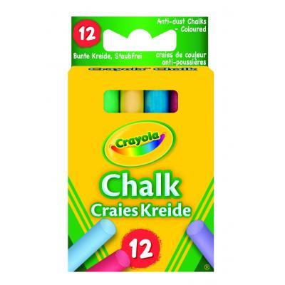 Crayola krijt: 12 gekleurde bordkrijtjes