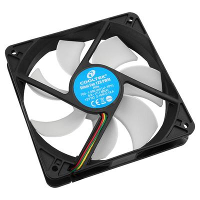 Cooltek Silent Fan 120 PWM Hardware koeling - Zwart, Wit