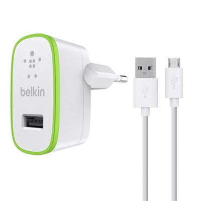 Belkin oplader: USB, Micro-USB, 10 W, 2.1 A, 1.2 m - Wit