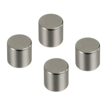 Hama koelkastmagneet: Magnets, cylindrical, 4 pieces - Zilver