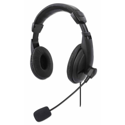 Manhattan Stereo USB, Lightweight Over-Ear design, Adjustable microphone, Integrated controls, USB-A plug, .....