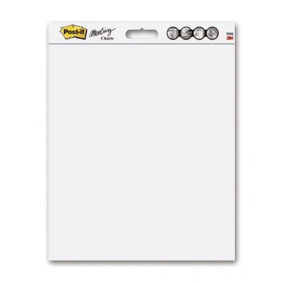 Post-it schrijfblok: Wall Pad, Effen, Wit, 508 x 584 mm, 2 Charts/Pak, 20 Blaadjes/Chart + 4 Command Strips