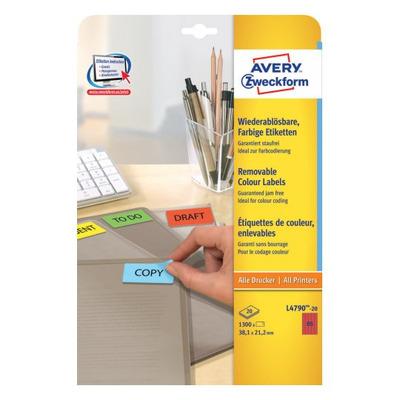 Avery etiket: L4790-20 - Rood