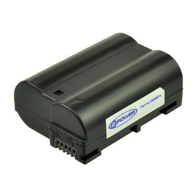 2-Power Digitale Camera Accu 7, 1400mAh - Zwart