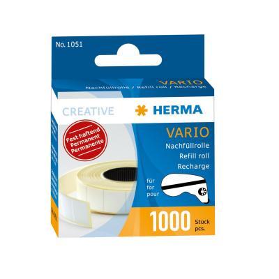 Herma etiket: Vario refill pack, permanent, 1000 paper stickers - Wit