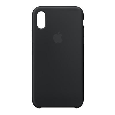 Apple mobile phone case: Siliconenhoesje voor iPhone X - Zwart