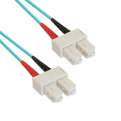 EECONN Glasvezel Patchkabel, 50/125 (OM3), SC - SC, Duplex, 1.5m Fiber optic kabel - Turkoois
