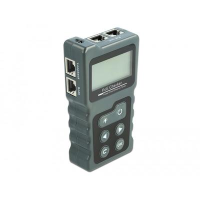 DeLOCK LCD Cable Tester RJ45 / PoE / DC Netwerkkabel tester - Grijs