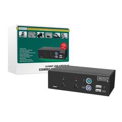 Digitus USB-PS/2 Combo-KVM switch KVM switch - Zwart