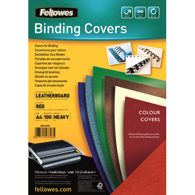 Fellowes binding cover: Delta - Rood