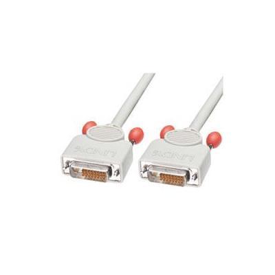 Lindy DVI kabel : DVI-D Dual Link DVI Lead, 7.5m - Grijs
