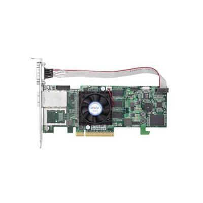 Areca RAID-on-Chip 800MHz, 512MB ECC DDR2-800 SDRAM, PCIe 2.0, 1 x SFF-8088, 8 x SAS/SATA HDD, RAID .....