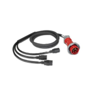 APC IT Power Distribution Cable Splitter 5 Wire 16A IEC309 to 3xC19 Energiedistributie - Zwart
