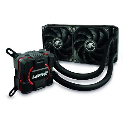 Lepa water & freon koeling: AquaChanger 240 - Zwart, Rood