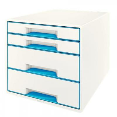 Leitz archiefdoos: WOW Cube - Blauw, Wit