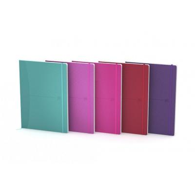 Oxford B5 - Flex Cover - Casebound - 5mm Squares - 160 Pages - SCRIBZEE Compatible - Assorted Bright Colours