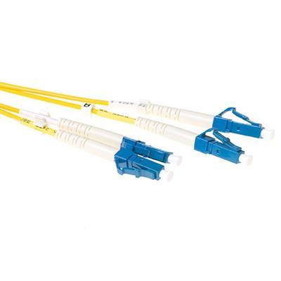 Ewent 5 meter LSZH Singlemode 9/125 OS2 glasvezel patchkabel duplex met LC connectoren Fiber optic kabel - Geel