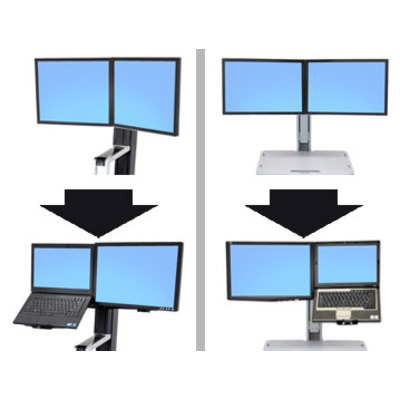 Ergotron Convert-to-LCD & Laptop Kit from Dual Displays Monitorarm