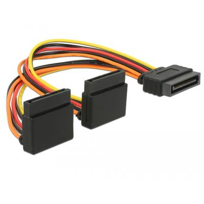 DeLOCK SATA 15 pin power plug with latching function > 2 x SATA 15 pin power receptacle up 15 cm - .....