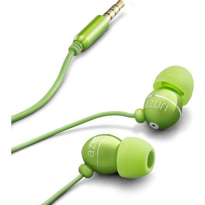 Azuri Handenvrij stereo hoofdtelefoon - groen - 3.5 mm - universeel Headset