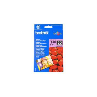 Brother fotopapier: 10 cm x 15 cm glanzend papier - Blauw, Rood