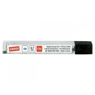 Staples potloodstift: Potloodstift SPLS 8557 0,7mm hb/etui 12