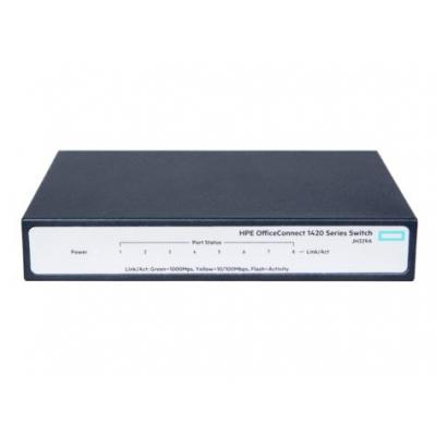 Hewlett Packard Enterprise OfficeConnect 1420-8G Switch - Grijs