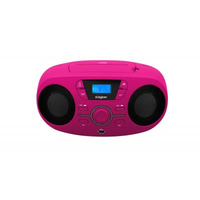 Bigben interactive CD speler: FM, USB, MP3, 3.5mm AUX-IN, 6 x LR14 - Roze