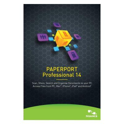 Nuance document management software: PaperPort Professional 14, 5-50u, 1y, WIN, MNT, EDU, FRE