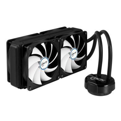 Arctic water & freon koeling: Liquid Freezer 240 - Multi-Compatible All-in-One CPU Water Cooler - Zwart, Wit