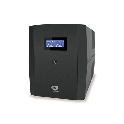 Conceptronic 2 x Schuko/3 x IEC, 220-240 V AC, 1200 VA, 720 W, Black UPS - Zwart