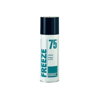 Kontakt chemie lucht verfrisser: Freeze 75 - Zwart, Wit