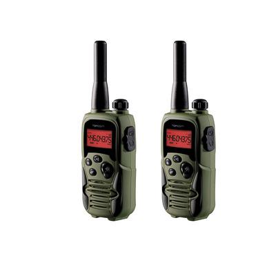 Topcom 446 MHz, 8-ch, 10 km Walkie-talkie - Zwart, Olijf