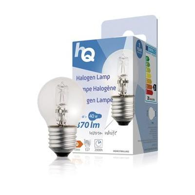 Hq halogeenlamp: Halogen lamp ball E27 28W 370lm 2800K