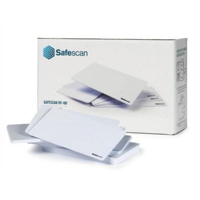 Safescan : 25 RFID badges, f / RF-100 - Wit