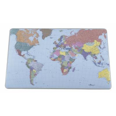 Durable bureaulegger: Desk Mat with World Map - Transparant