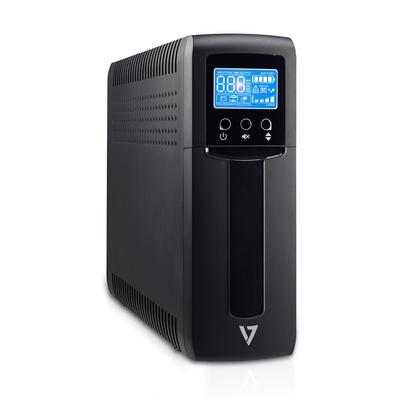 V7 1500VA, 900W, 316J, 8x IEC, VRLA UPS - Zwart
