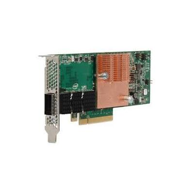 Intel interfaceadapter: Omni-Path Host Fabric Interface Adapter 100 Series 1 Port PCIe x8 Standard - Groen, Grijs