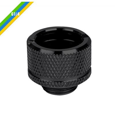 Thermaltake component: Thermaltake, Pacific G1/4 PETG Tube 5/8 (16mm) OD Adapter - Black
