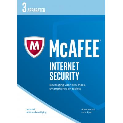 Mcafee software: Internet Security 2017, 3 Devices (Dutch)