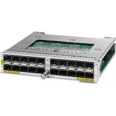 Cisco ASR 9000 20-port 1-Gigabit Ethernet Modular Port Adapter, requires SFP optics netwerk switch module
