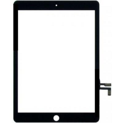 Microspareparts mobile : touch panel assembly Black - Zwart