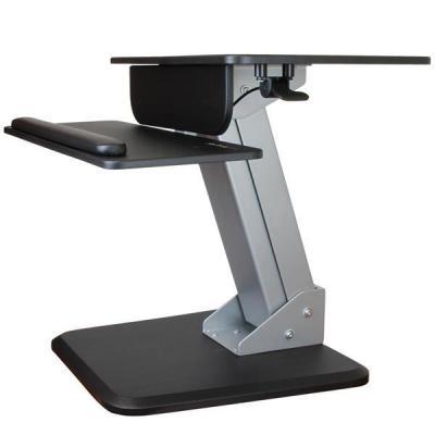 Startech.com multimedia kar & stand: Zit sta bureau werkstation - Zwart, Zilver