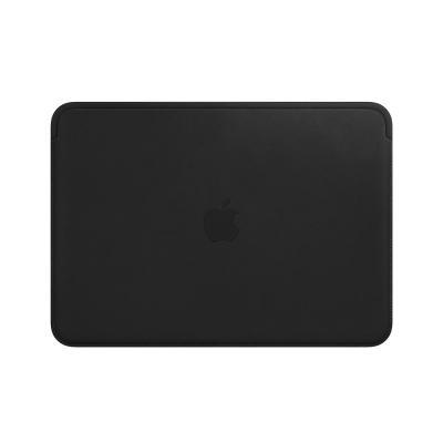 Apple laptoptas: Leather Sleeve for 12-inch MacBook - Black - Zwart