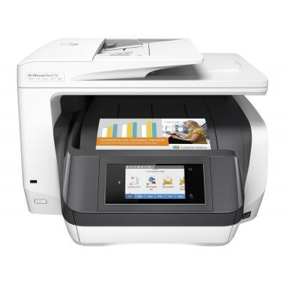 Hp multifunctional: OfficeJet 8730 AiO - Zwart, Cyaan, Magenta, Geel