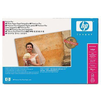 Hp fotopapier: Premium Plus satijnglans fotopapier, 20 vel, A2+/458 x 610 mm