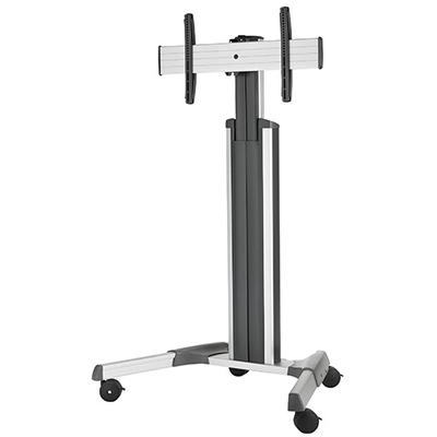 Chief Large FUSION Manual Height Adjustable Mobile Cart Multimedia kar & stand - Zilver