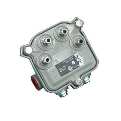 Cisco Flexible Solutions Tap, Faceplate, 1.25GHz, 4-way, 8dB kabel splitter of combiner - Zilver