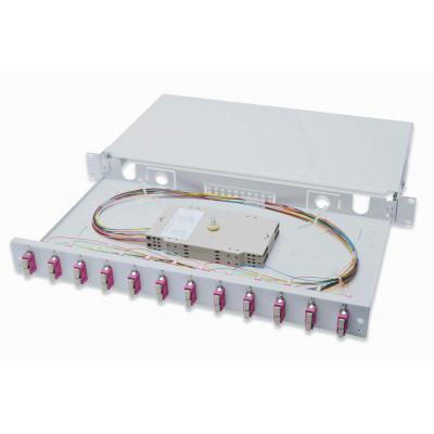 Assmann electronic fiber optic adapter: Professional Fiber Optic Splice Box, Equipped, 12x SC, OM4