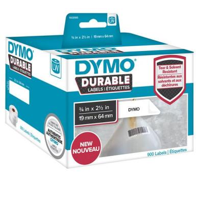 Dymo labelprinter tape: 1 roll, 900 labels, 19x64 mm, white - Wit
